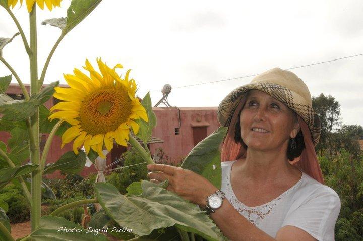 Fattouma benabdenbi Co-fondatrice Terre et Humanisme Maroc et propriétaire de la ferme